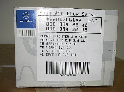 MERCEDES AIR FLOW SENSORS