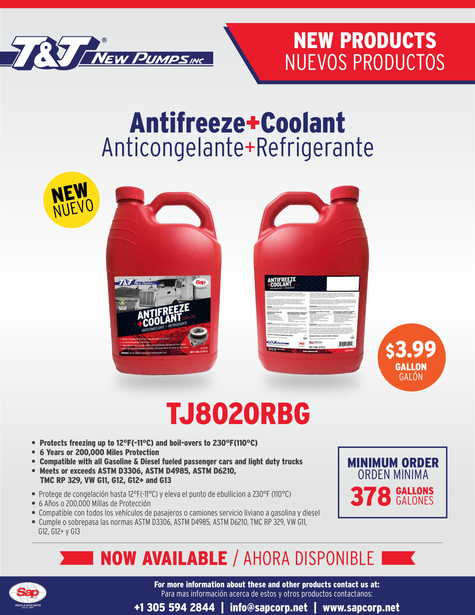 New ANTIFREEZE + COOLANT