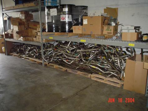 Mufflers and pipes in good condition