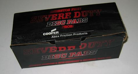 D614 severe duty disc pads cooper abex friction