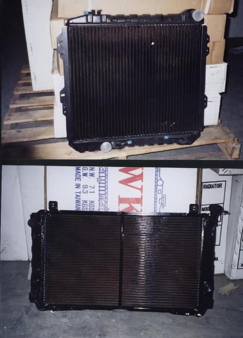 Complete radiators for nissan