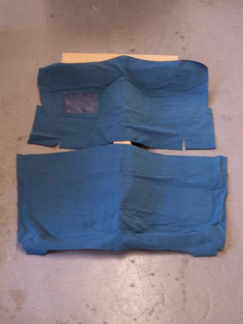 front/rear carpet light blue