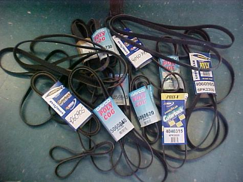 HUGE LOT OF SERPENTINE BELTS GOODYEAR & DAYCO NEW!!! ASST. NUMBERS