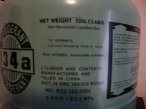 20' Container of R134A in 30/lb cylinders