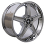 "17"" 9 / 10.5"" Chrome Mustang Cobra R Wheels rims 94-06"