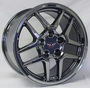 "17"" BLACK Chrome Corvette Z06 Wheels New 17x9.5 ZO6"