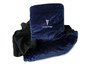 Navy Blue Pontiac fleece pillow blanket