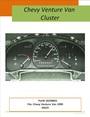 GM/Chevy Venture dash instrument cluster 1999