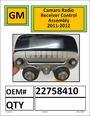 GM Camaro Radio Control Recieve