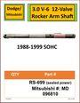 Dodge/Mitsubishi 3.0 V-6 Rocker Arm Shaft #RS-699