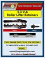 GM 4.3L Roller Lifter Retainers (RLR-431) w/ Lifter Bracket Screw LBS-231
