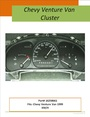 GM / Chevy Venture dash instrument cluster 1999
