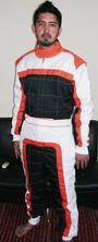 Kart Racing Suit Cordura Inside mesh and cotton lining.